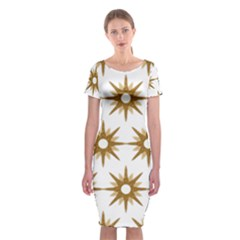 Seamless Repeating Tiling Tileable Classic Short Sleeve Midi Dress