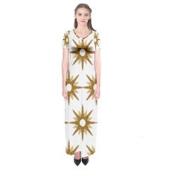 Seamless Repeating Tiling Tileable Short Sleeve Maxi Dress