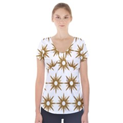 Seamless Repeating Tiling Tileable Short Sleeve Front Detail Top