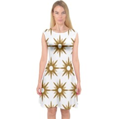 Seamless Repeating Tiling Tileable Capsleeve Midi Dress