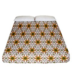 Seamless Wallpaper Background Fitted Sheet (queen Size)