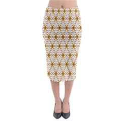 Seamless Wallpaper Background Midi Pencil Skirt