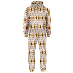 Seamless Wallpaper Background Hooded Jumpsuit (men)