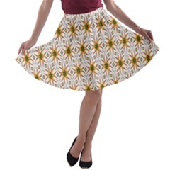 Seamless Wallpaper Background A-line Skater Skirt