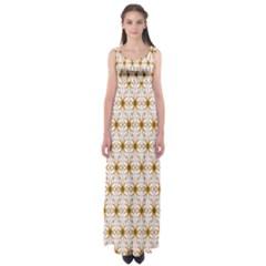 Seamless Wallpaper Background Empire Waist Maxi Dress