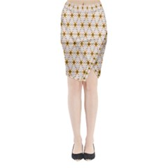 Seamless Wallpaper Background Midi Wrap Pencil Skirt