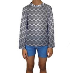 Silver The Background Kids  Long Sleeve Swimwear