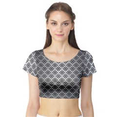 Silver The Background Short Sleeve Crop Top (Tight Fit)