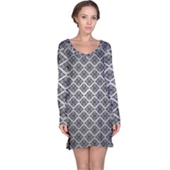 Silver The Background Long Sleeve Nightdress