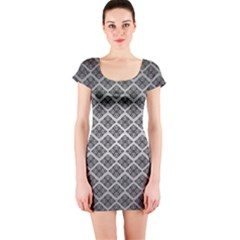 Silver The Background Short Sleeve Bodycon Dress