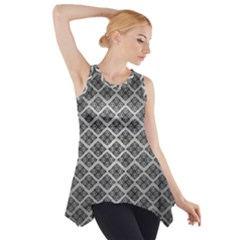 Silver The Background Side Drop Tank Tunic