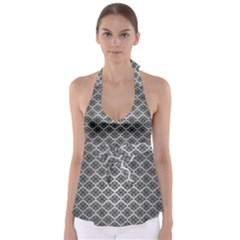 Silver The Background Babydoll Tankini Top
