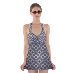 Silver The Background Halter Swimsuit Dress