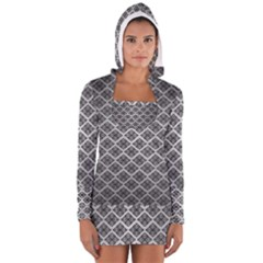 Silver The Background Women s Long Sleeve Hooded T-shirt