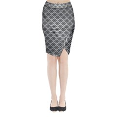 Silver The Background Midi Wrap Pencil Skirt