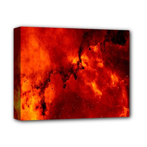 Star Clusters Rosette Nebula Star Deluxe Canvas 14  X 11