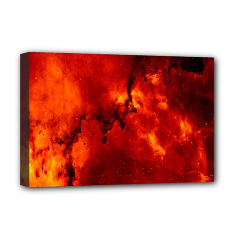 Star Clusters Rosette Nebula Star Deluxe Canvas 18  X 12