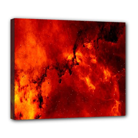 Star Clusters Rosette Nebula Star Deluxe Canvas 24  X 20