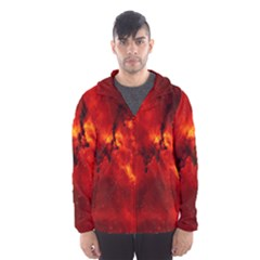 Star Clusters Rosette Nebula Star Hooded Wind Breaker (men)