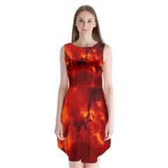 Star Clusters Rosette Nebula Star Sleeveless Chiffon Dress