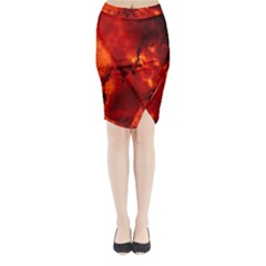 Star Clusters Rosette Nebula Star Midi Wrap Pencil Skirt
