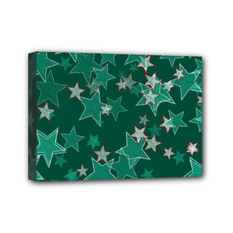 Star Seamless Tile Background Abstract Mini Canvas 7  X 5