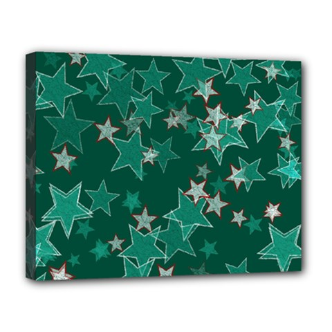 Star Seamless Tile Background Abstract Canvas 14  X 11