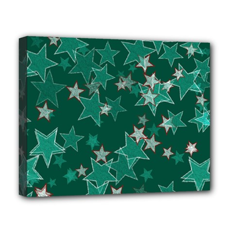 Star Seamless Tile Background Abstract Deluxe Canvas 20  X 16