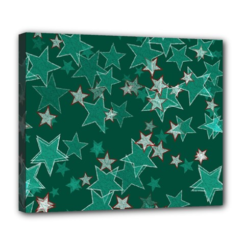 Star Seamless Tile Background Abstract Deluxe Canvas 24  X 20