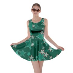 Star Seamless Tile Background Abstract Skater Dress