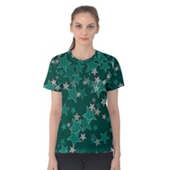 Star Seamless Tile Background Abstract Women s Cotton Tee