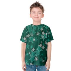 Star Seamless Tile Background Abstract Kids  Cotton Tee