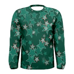 Star Seamless Tile Background Abstract Men s Long Sleeve Tee