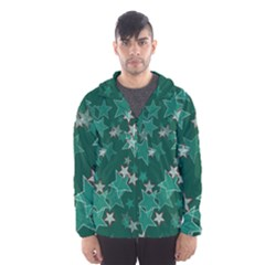 Star Seamless Tile Background Abstract Hooded Wind Breaker (men)