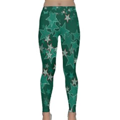 Star Seamless Tile Background Abstract Classic Yoga Leggings