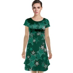 Star Seamless Tile Background Abstract Cap Sleeve Nightdress