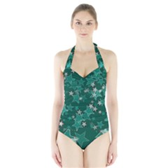 Star Seamless Tile Background Abstract Halter Swimsuit