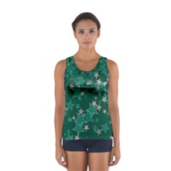 Star Seamless Tile Background Abstract Women s Sport Tank Top