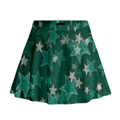 Star Seamless Tile Background Abstract Mini Flare Skirt