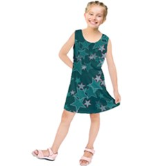 Star Seamless Tile Background Abstract Kids  Tunic Dress