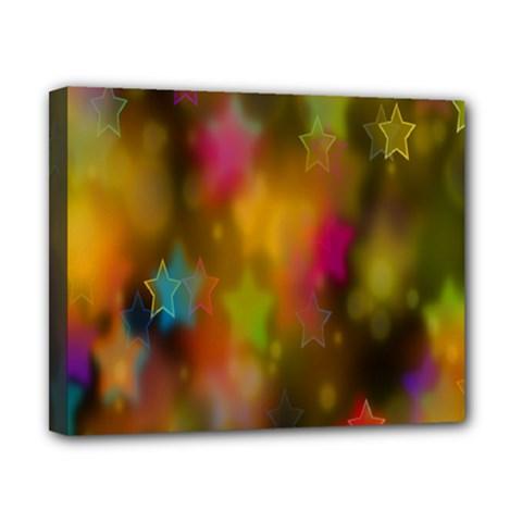 Star Background Texture Pattern Canvas 10  X 8