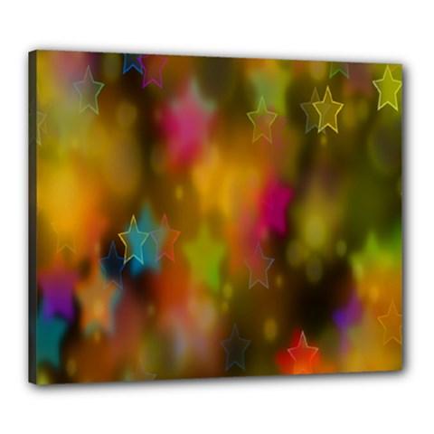 Star Background Texture Pattern Canvas 24  X 20