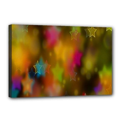 Star Background Texture Pattern Canvas 18  X 12