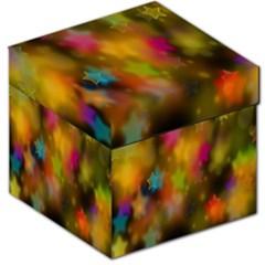 Star Background Texture Pattern Storage Stool 12