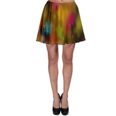 Star Background Texture Pattern Skater Skirt