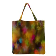 Star Background Texture Pattern Grocery Tote Bag