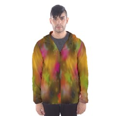 Star Background Texture Pattern Hooded Wind Breaker (men)