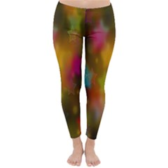 Star Background Texture Pattern Classic Winter Leggings