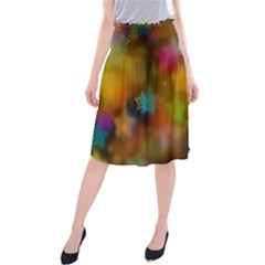 Star Background Texture Pattern Midi Beach Skirt