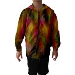 Star Background Texture Pattern Hooded Wind Breaker (kids)